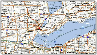 Detroit Map 555 Metro Airport Transportation Service Detroit MI